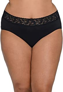 product image for hanky panky Women's Plus Size Organic Cotton Signature Lace French Brief