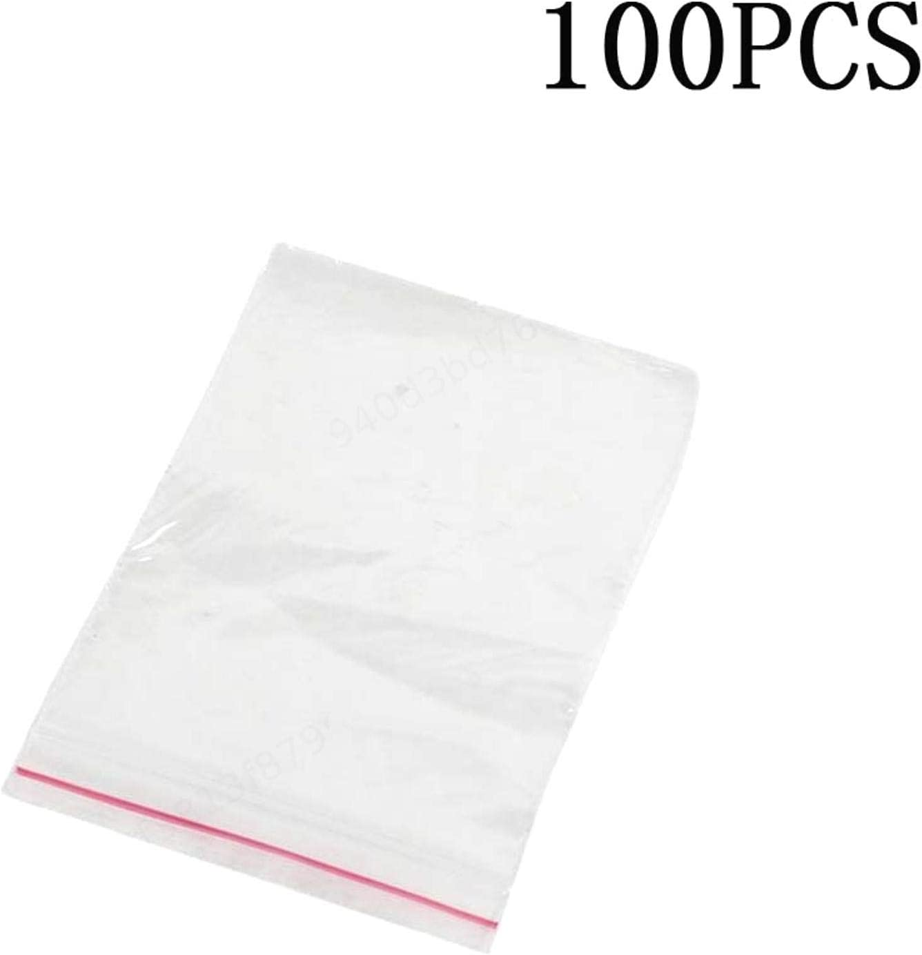 100 Pcs 9cm x 6cm en Plastique Transparent Baggy Grip Auto Joint Zip Lock Fermeture Sacs De Stockage Rescellable Autocollant Sac