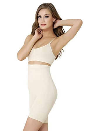 a9c611e005b9e FORMeasy Women`s Seamless Shapewear Hi-Waist Long Leg Slimmer Tummy Control  at Amazon Women s Clothing store