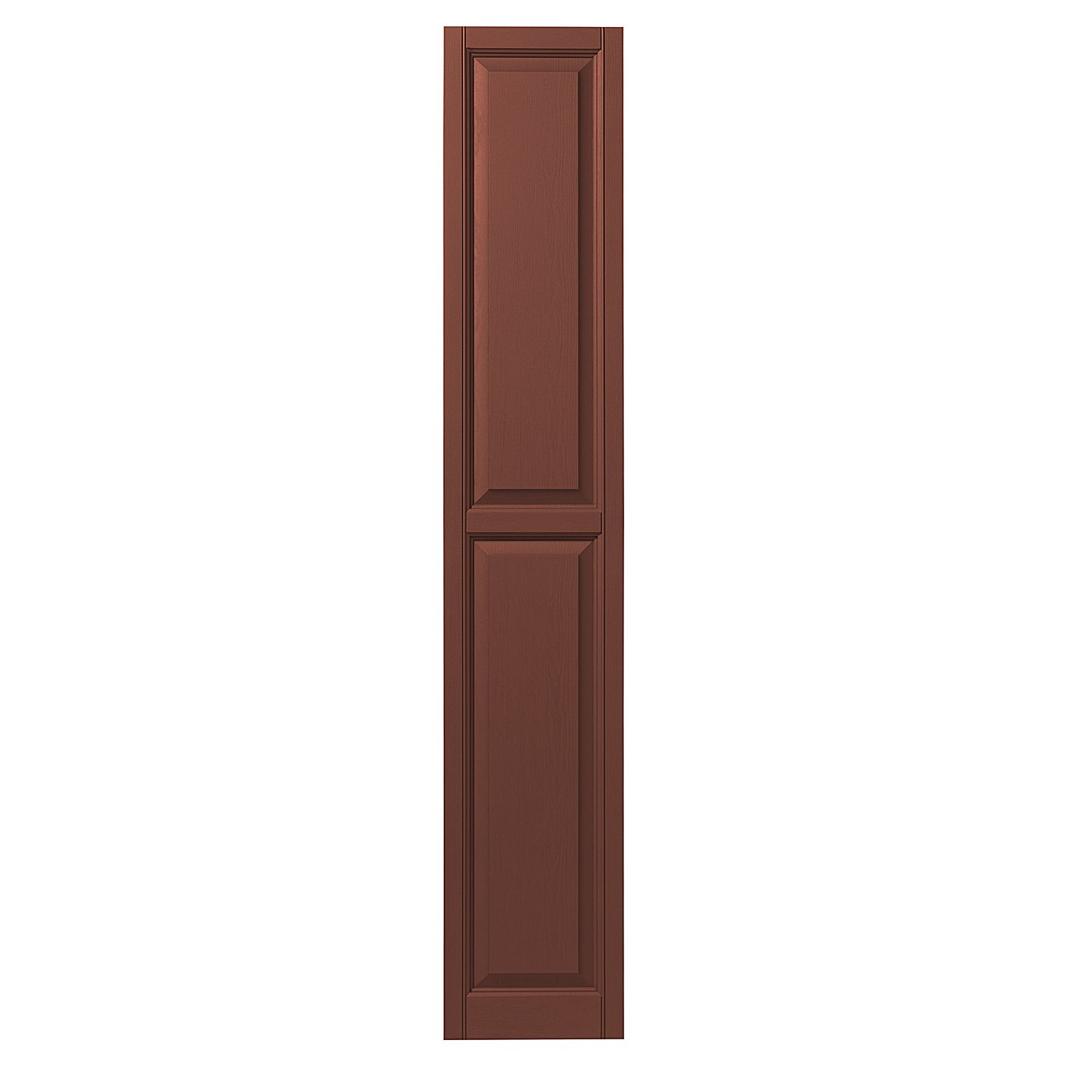 Ply Gem Shutters and Accents VINRP1271 38 Raised Panel Shutter, 12'', Red