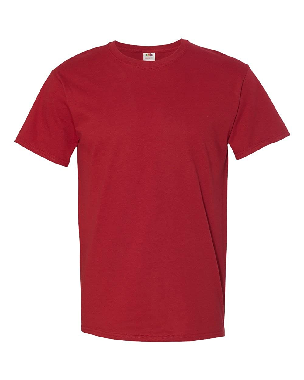 S 3931 Crimson Fruit of the Loom 5 oz 100/% Heavy Cotton HD T-Shirt