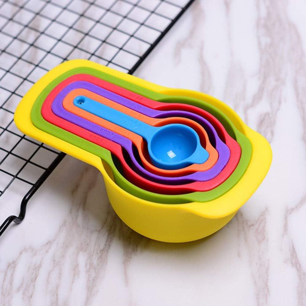 Xiton 1set Arc Coupes de Mesure cr/éatif 6 Coupe Measuring Spoons Multi Utilisation Multicolor Coupes de Mesure pour la Cuisine
