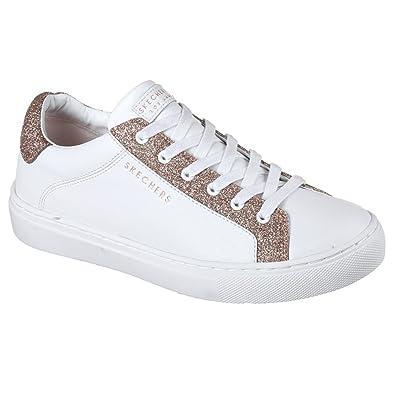 Skechers Women's Side Street - Glitz Kickz White/Rose Gold 10 ...