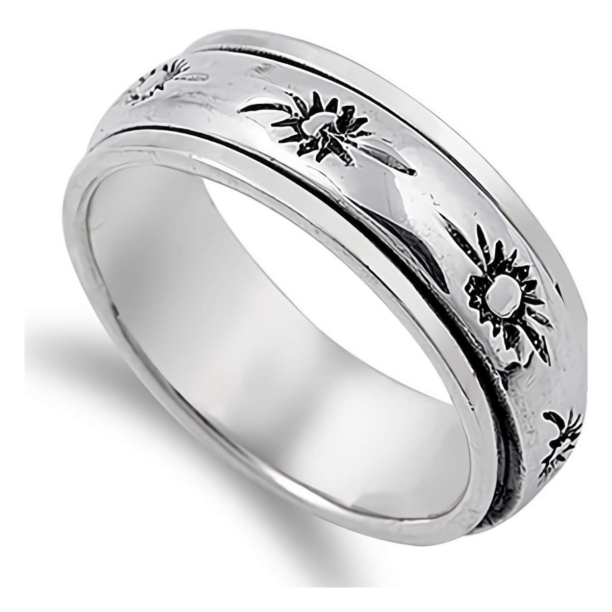 Spinner Glitzs Jewels 925 Sterling Silver Ring Cute Jewelry Gift for Women in Gift Box