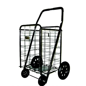 Superior Utility Cart With Wheels Rolling Folding Kitchen Shopping Laundry Home  Grocery Shopping Cart Collapsible Portable Extra