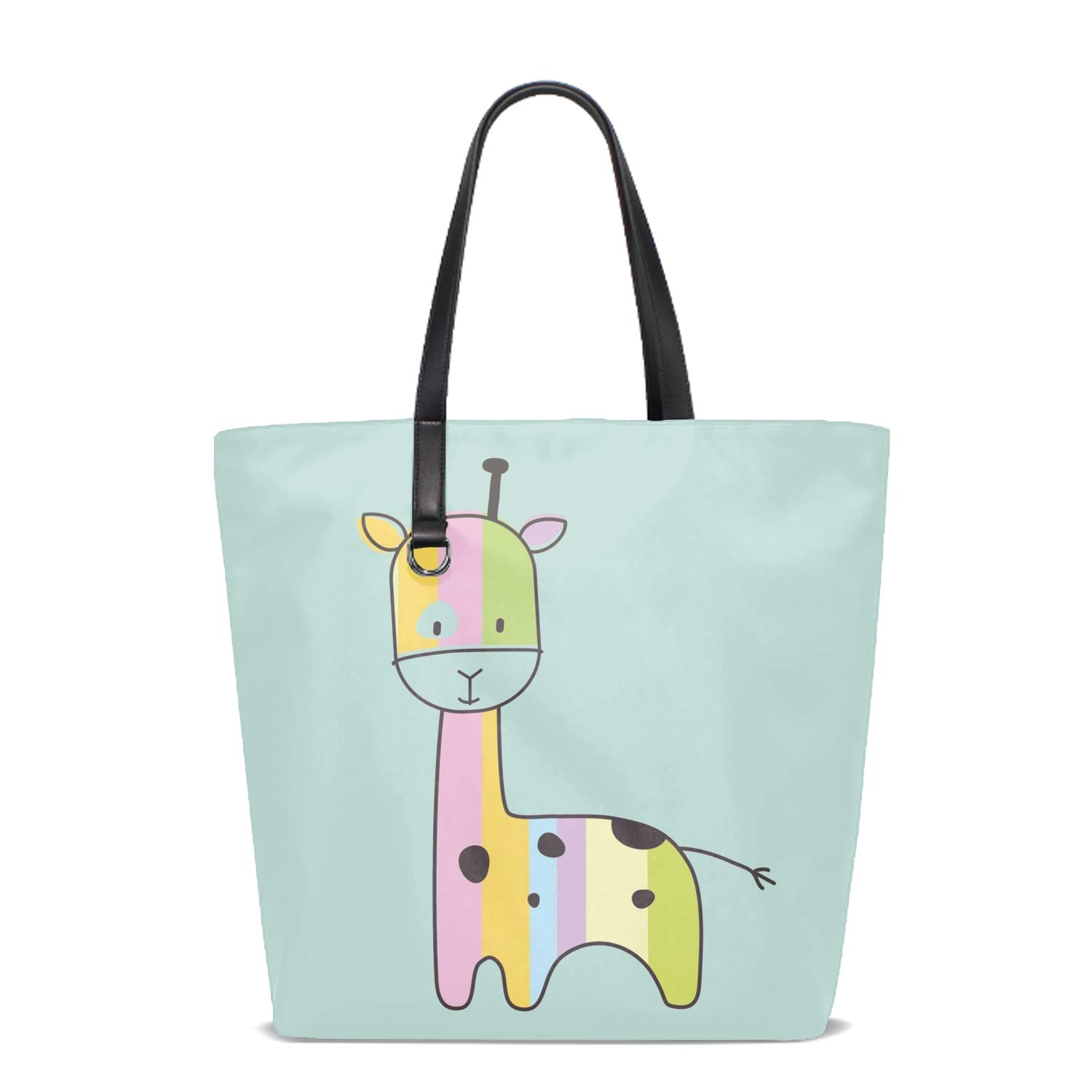 Women Tote Bag Notebook Shoulder Bag Lightweight Polyester Business Work Office Briefcase Cat Head Grass