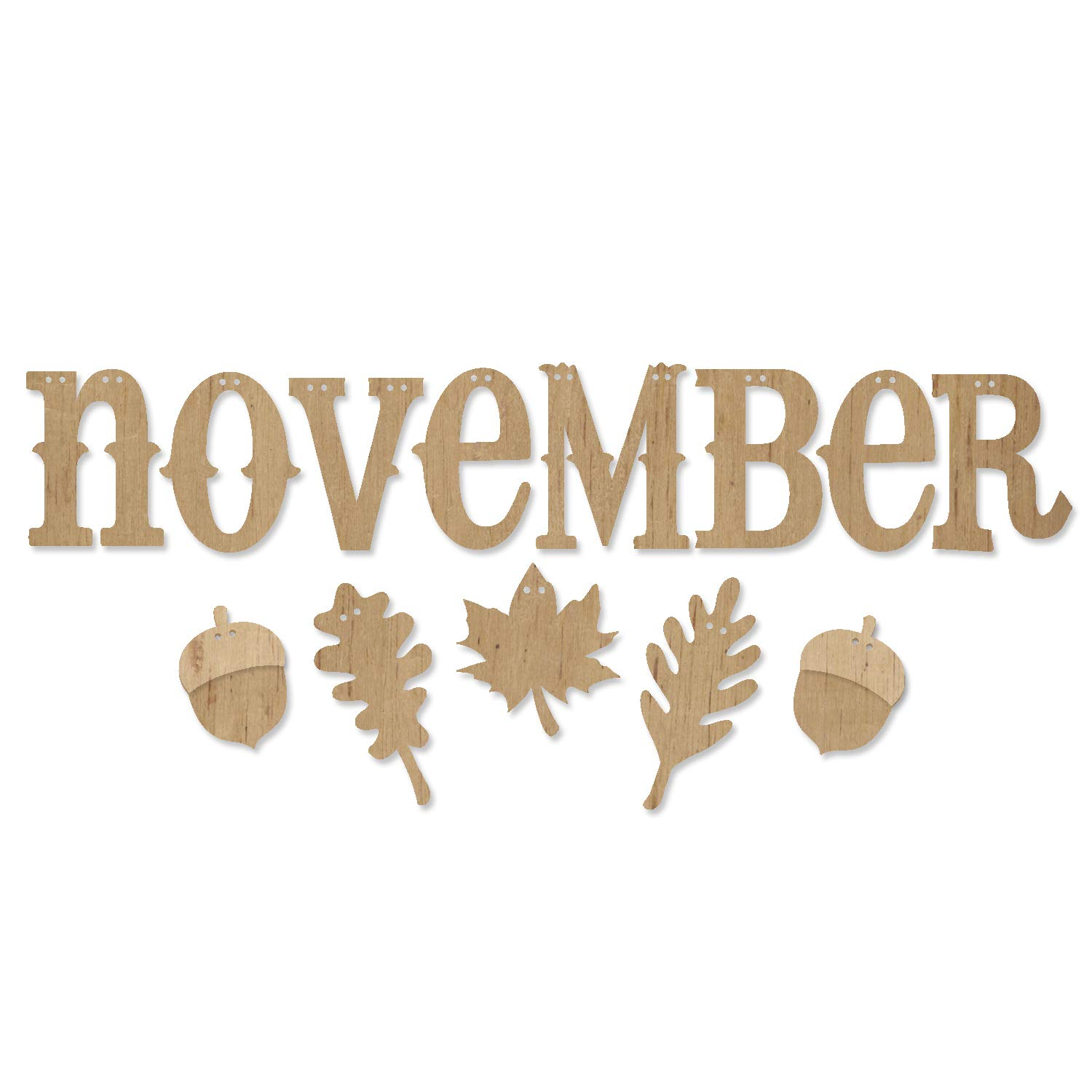 ADORNit DIY Wood Swag Banner Hanger - November