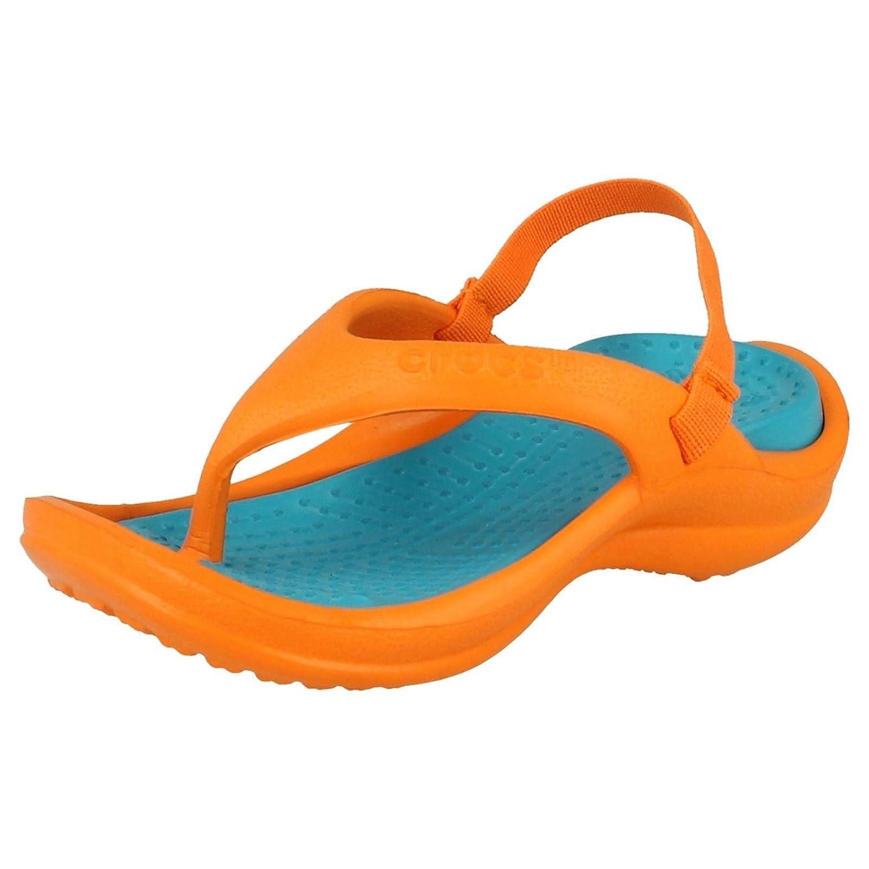 Crocs Athens, Damen Sandalen Sandalen Damen Orange/Turquoise (Orange) 52a445