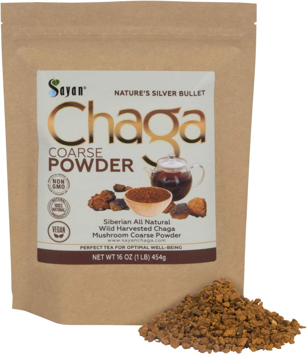 Sayan Siberian Raw Ground Chaga Powder 1 Lbs 454g