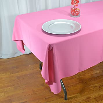 Hot Pink Polyester Rectangle Tablecloth 60 X 108 Inches