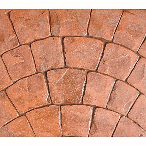 5 Pc. Roman FanDecorative Concrete Stamp Mat Set by Walttools