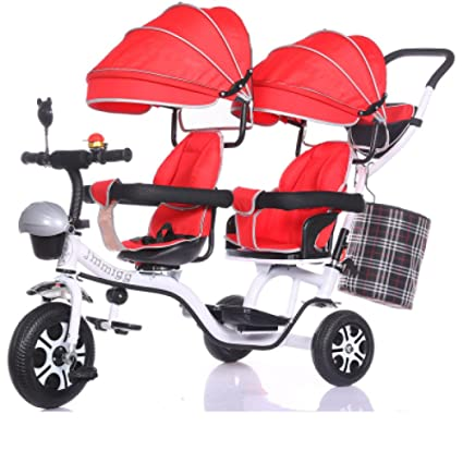 60d0a086c TUJHGF Sillita De Paseo Triciclos para Niños Gemelos Bicicletas Dobles para  Niños Cochecitos para Bebés Bicicletas