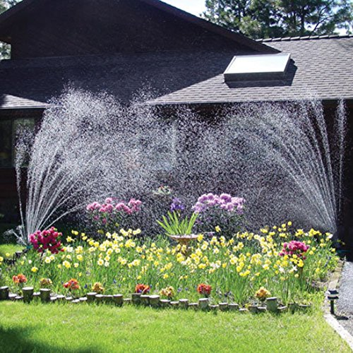 LLAMEVOL Lawn Sprinkler System 360 Direction Adjustable Nozzle Noodles Head Outdoor Sprinklers Parts 12 Hose Spray Watering for Yard Ground Flower bed Garden Plants Grass Irrigation Kit 2 Pack by by LLAMEVOL (Image #6)
