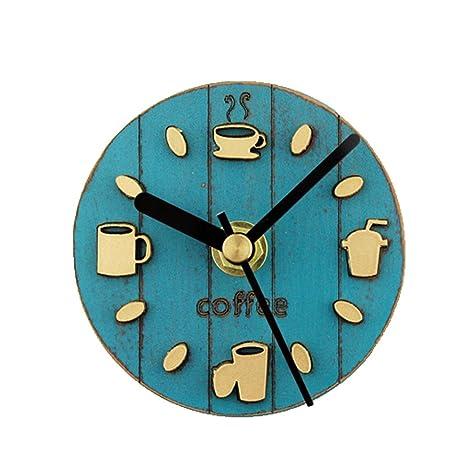 Hxfbyqrjh Relojes De Pared De Refrigerador - Hacer Utensilios De Frijoles De Tazas De Café -
