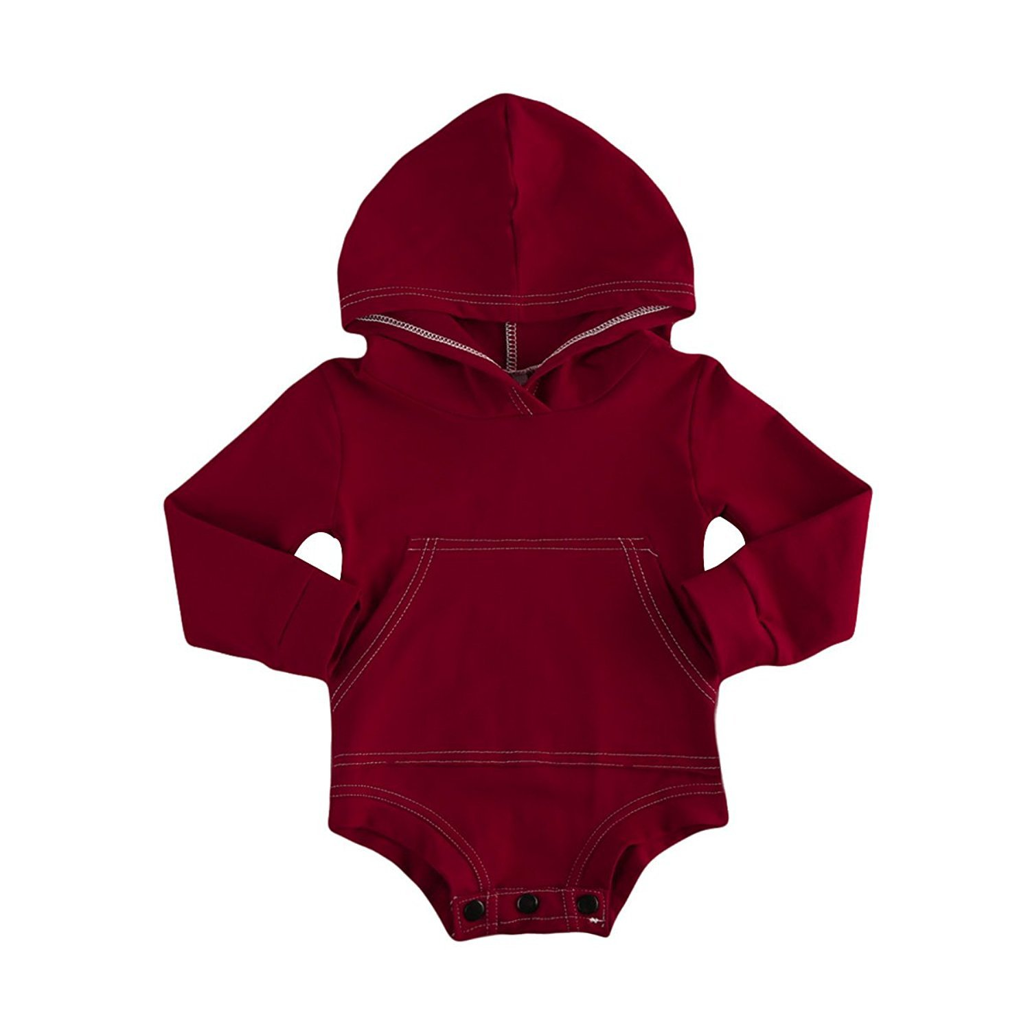 BELS Baby Boys Girls Hoodies Top Romper Jumpsuit with Pocket Clothes 21354