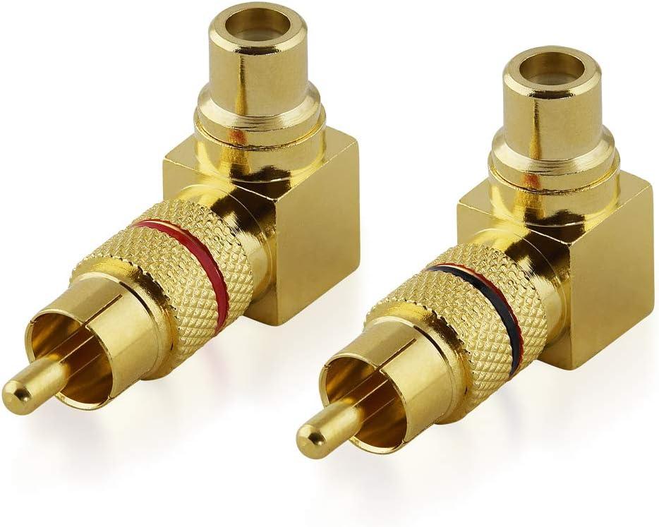 Bestplug 2 Stück Rca L R Audio Adapter Elektronik