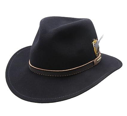 Stetson Valrico VitaFelt Wool Felt Fedora Hat Wide Brim Size L at ... b69a405052f