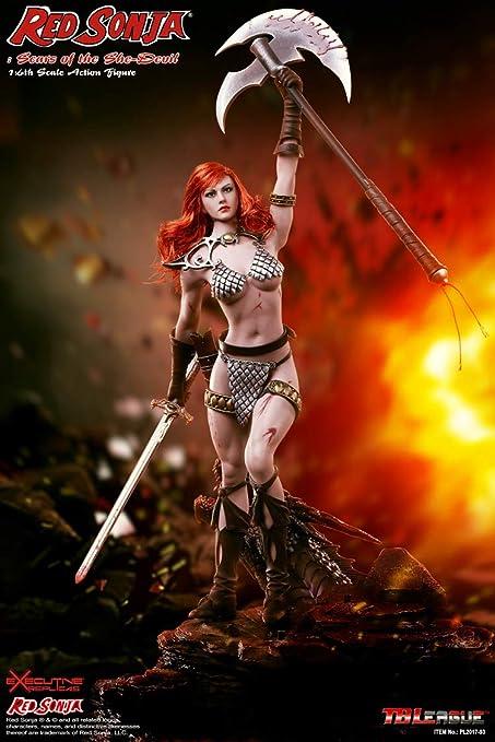 """pour 1//6 12 in environ 30.48 cm échelle Toys Phicen Hot Red Sonja She-Devil sanglante hache 7.75/"""""""