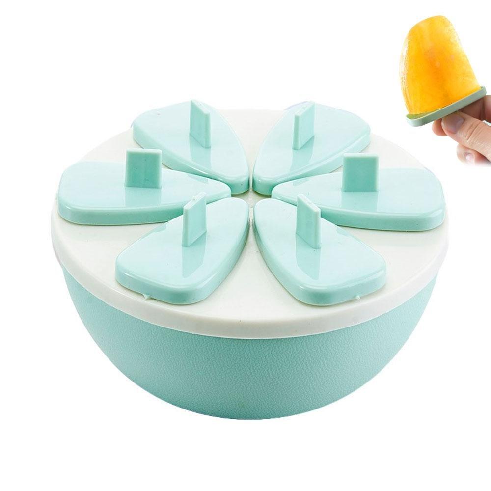 Compra Pawaca Juego de 6 moldes de plástico para hacer paletas de hielo, molde de plástico para palomitas de hielo, bandeja de crema de hielo para niños, ...