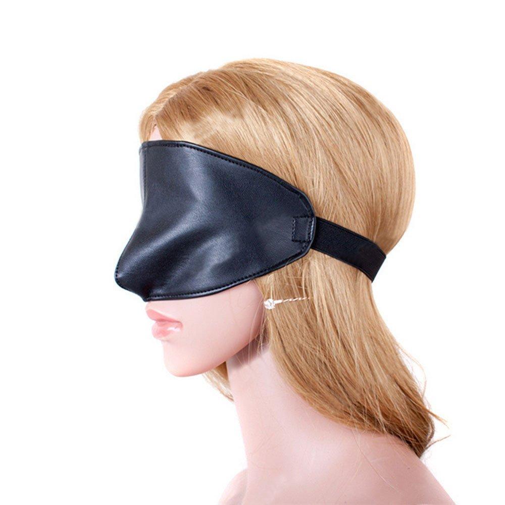 Sleep Eye Mask Flirting Black Soft PU Games Mask Slave Passion Mask