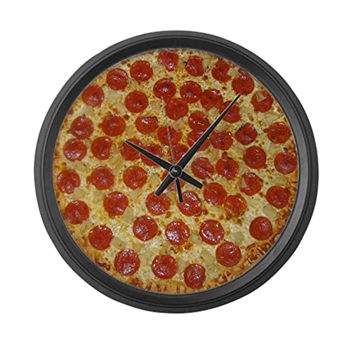 CafePress – Extra Large Pizza Wall Clock – Large 17 Round Wall Clock, Unique Decorative Clock
