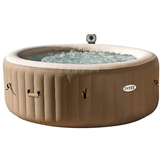 Intex 28404EX - Spa hinchable burbujas, 4 personas, 795 litros, 220-240v,color crema, 196 x 71 cm