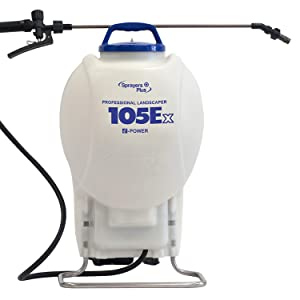 105Ex Effortless Backpack Sprayer - 20V Lithium Long Battery Life with High Grade Seals & O-Ring, Brass Wand & Nozzle