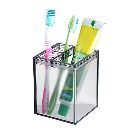 Aolvo - Soporte para cepillos de dientes eléctricos, 3 ranuras multifuncionales, soporte de almacenamiento