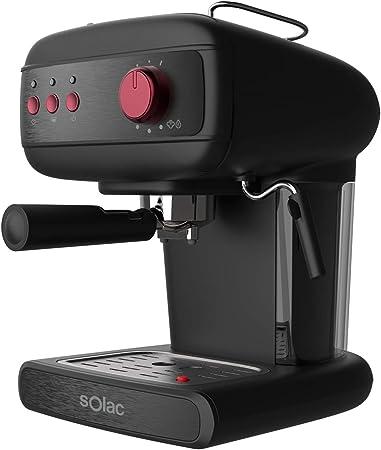 Solac CE4496 Stillo 20 Bar Cafetera Espresso, 850 W, 1.5 litros, Acero Inoxidable, Negro: Amazon.es: Hogar