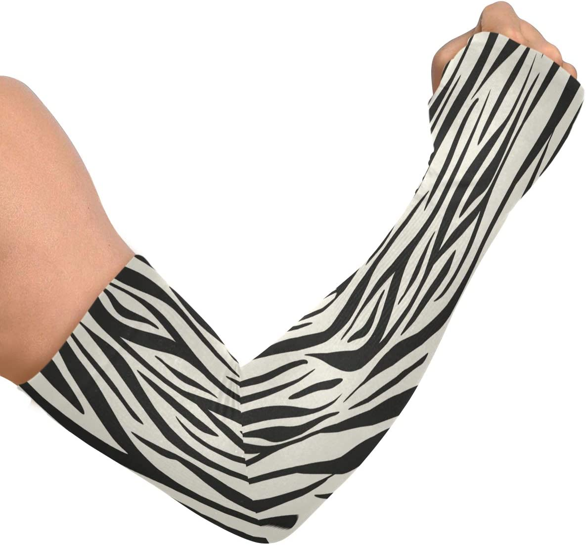 Uv Sun Protection Cooling Arm Sleeves Animal Print Zebra Special Compression Sleeves For Arms, Arm Tattoo Sleeves, Sleeves To Cover Arms For Men Women