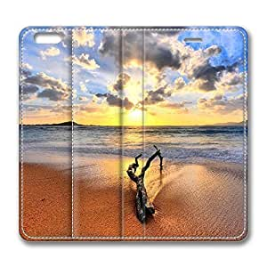 iPhone 6 Leather Case, Personalized Protective Flip Case Cover Driftwood for New iPhone 6