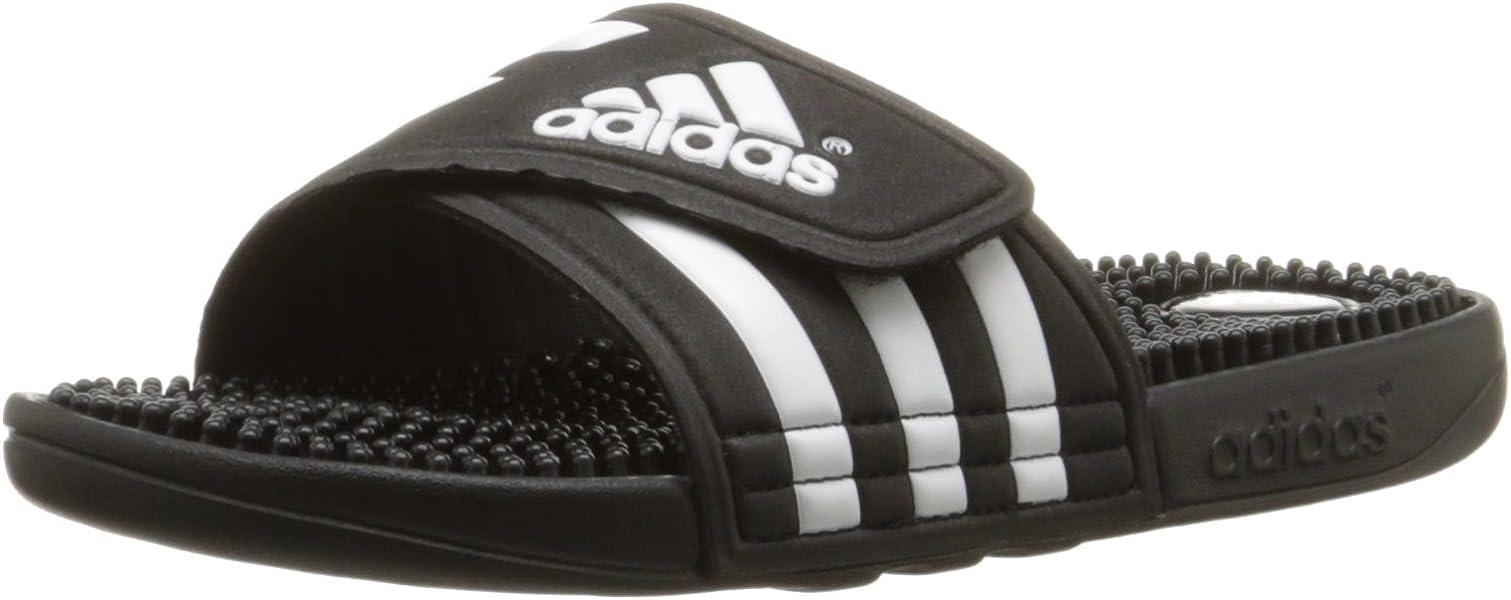best loved 1f9c0 b1053 Adidas adissage Slide, noir  noir  blanc en cours dexécution, 5 M Us  Amazon.fr Chaussures et Sacs