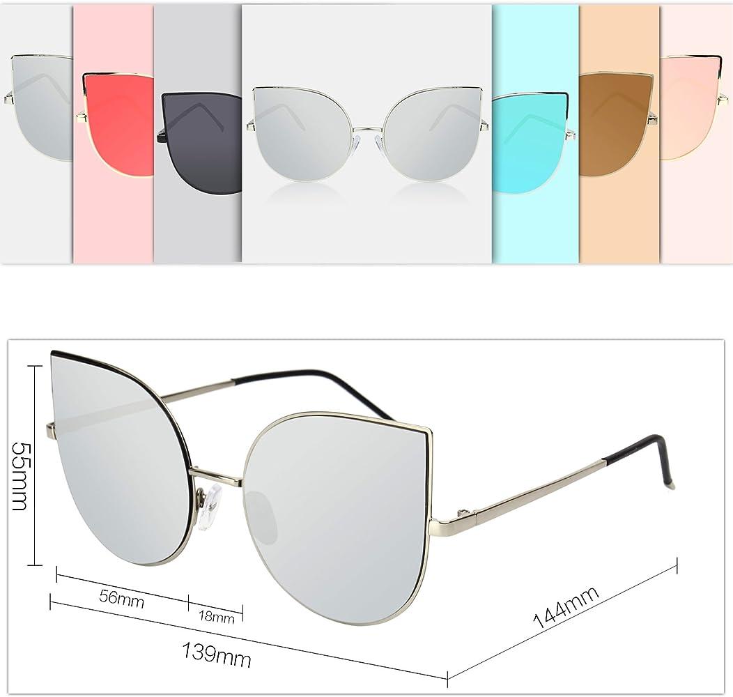 Amazon.com: SojoS SJ1022 anteojos de sol con lentes lisos y ...