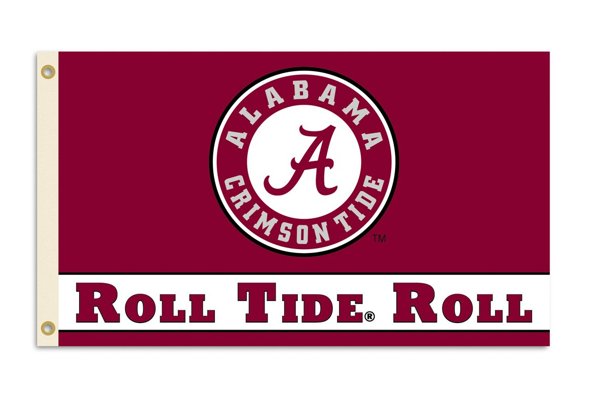 Alabama Crimson Tide Roll Tide Flag Large 3x5