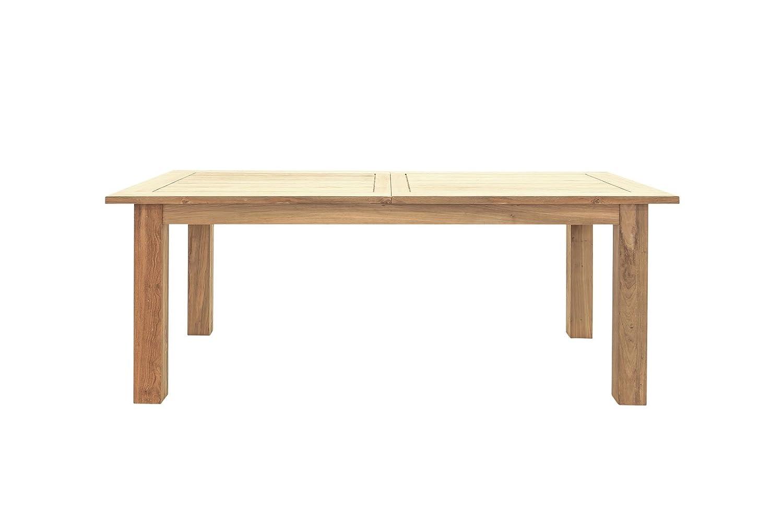 OUTFLEXX stilvoller Esstisch, Ausziehtisch aus hochwertigem, recyceltem Teakholz, 200 x 100 x 77 cm, Gartentisch ausziehbar auf 260 cm, Esstisch, Holztisch für 8 Personen, pflegeleicht und wetterfest
