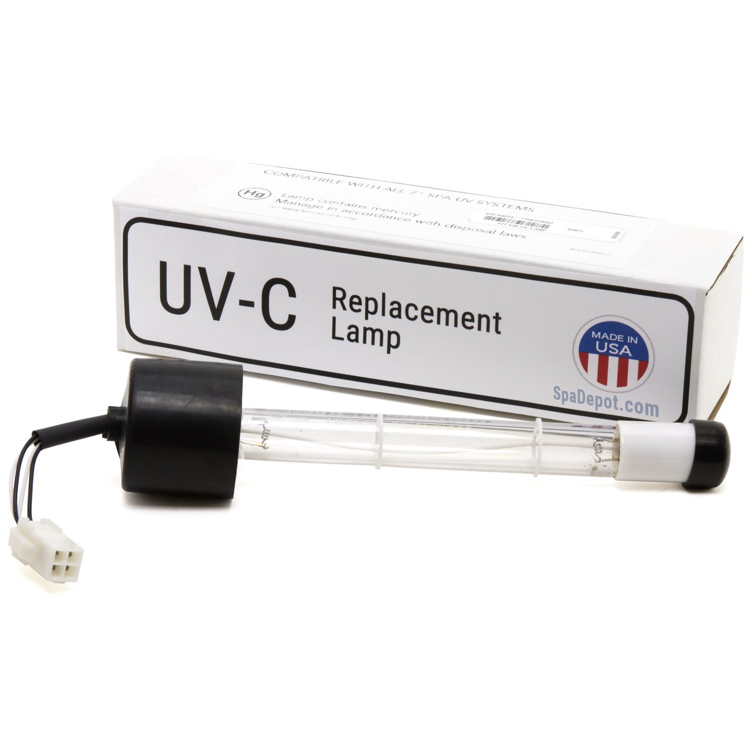 Ultra-Ray Clear UV-C Quartz Bulb Replacement XL for Hot Tub Spa by Ultra Ray XL