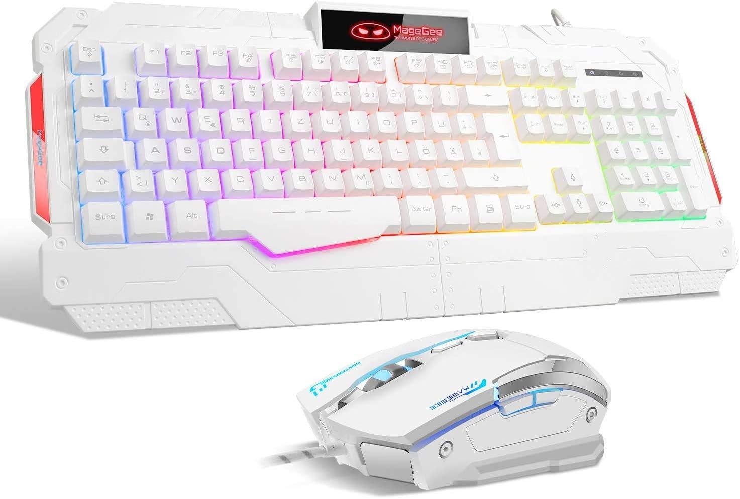 Teclado para juegos Qwertz GK806 Rainbow, retroiluminación ...