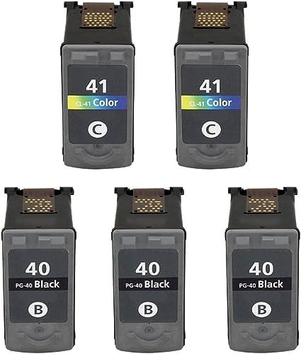 Eston 5 Pack – remanufacturados de repuesto para Canon PG-40 y CL-41 color cartuchos de tinta para Canon Pixma Impresoras de la serie: Amazon.es: Oficina y papelería