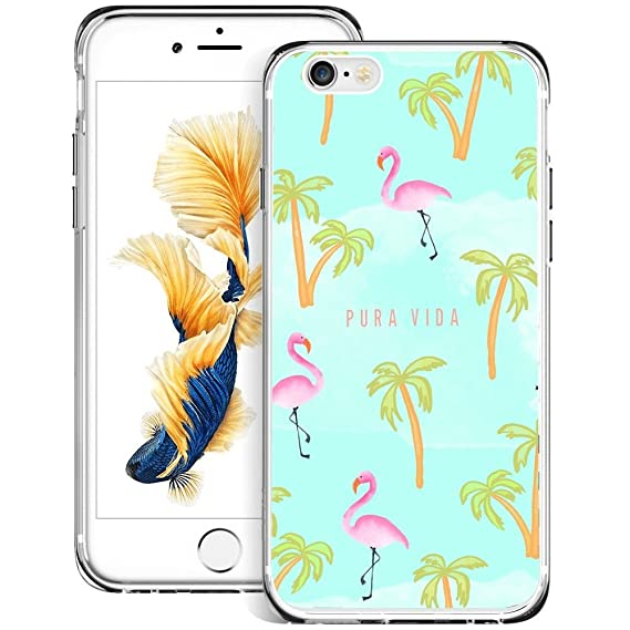 official photos 4d0a4 17cd0 Amazon.com: Flamingo iPhone 6s Plus 6 Plus Case Clear, By Milostar ...
