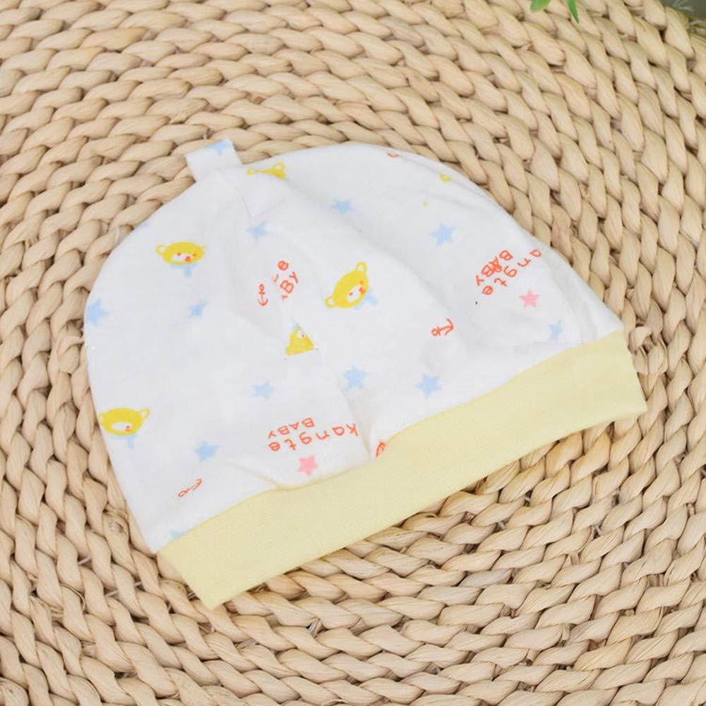 Mibuy Swaddle Neonato Cappello Copertina 100/% Cotone Neonati 3 Pezzi Strato Singolo Elasticit/à Addormentato Cappello per Neonato 0-6 Mesi