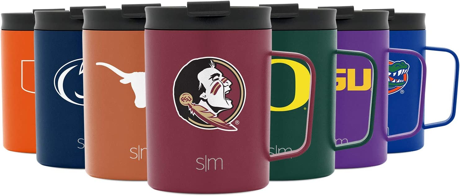 Simple Modern NCAA Florida State Seminoles 12oz Coffee Mug Insulated Travel Stainless Steel Scout