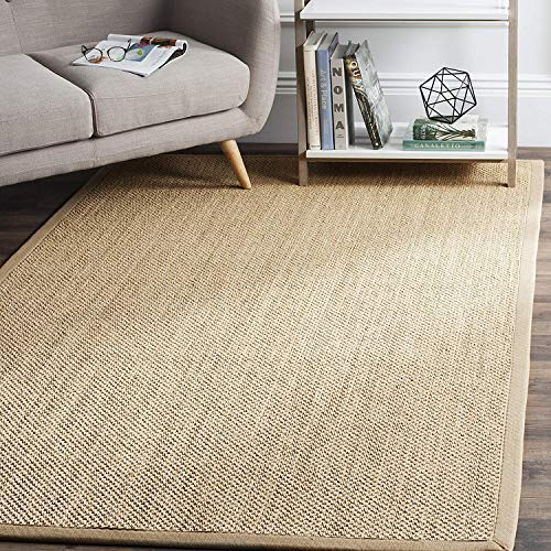 Natural Fiber Collection NF141B Tiger Paw Weave Maize and Linen Sisal Area Rug (6' x 9'), Home Decor Area Rugs Runner for Living Room Dining Room Bedroom