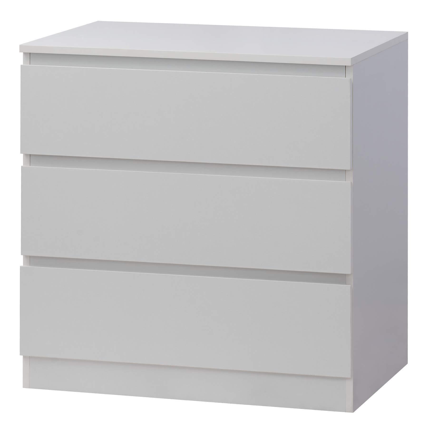 Fineboard FB-DS03-W Storage Dresser with 3 Drawers Universal Organizer Unit, White