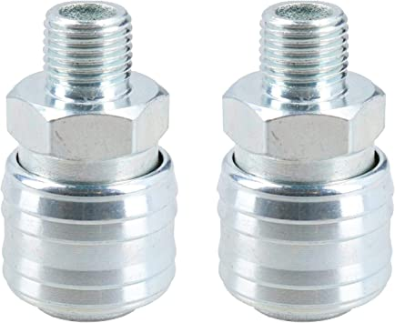 Air Line Hose Connector Fitting Male Quick Release 1//2 inch BSP Male 2pk
