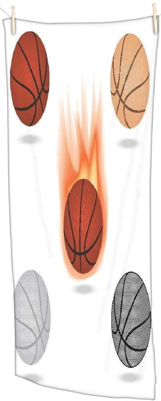 Snoogg Baloncesto toalla de playa Super suave y absorbente ...