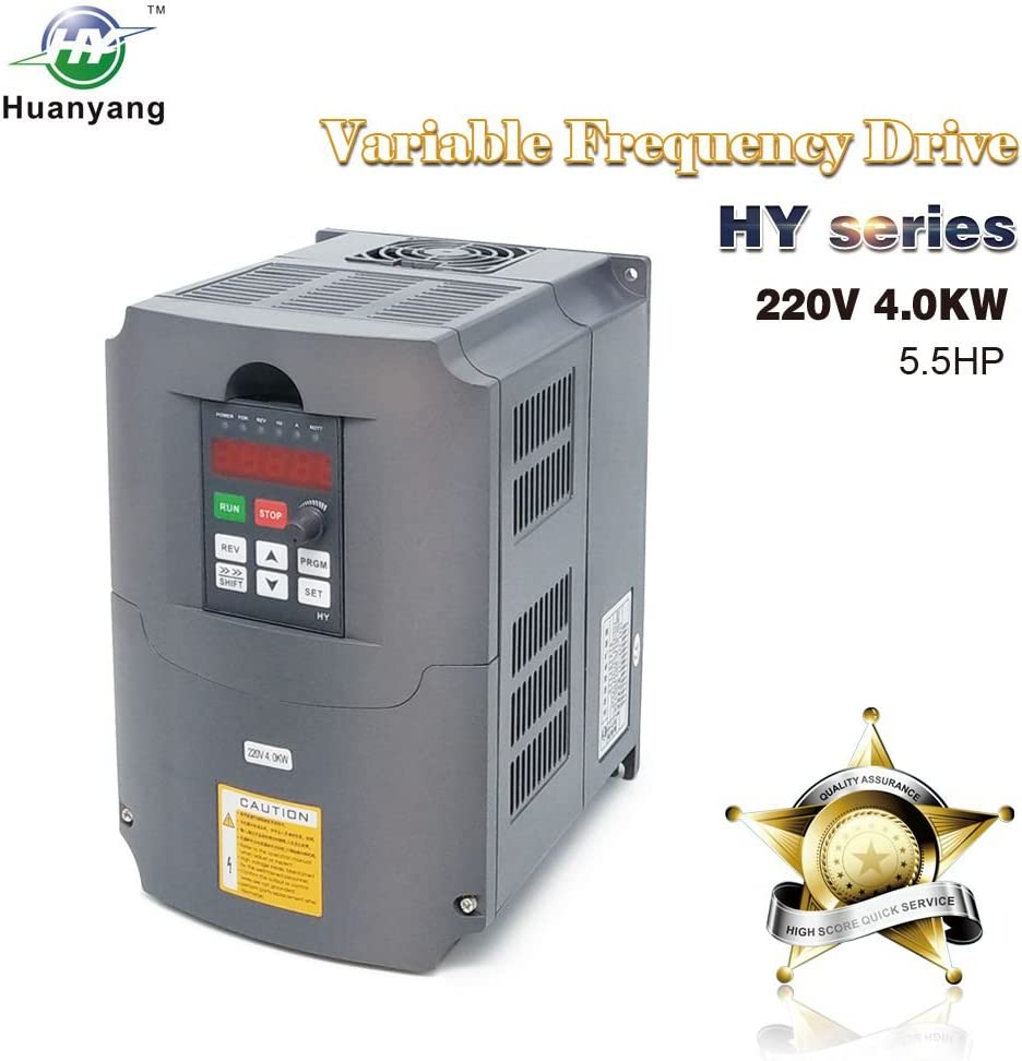 HY HUANYANG CNC VFD 220V 4.0KW 5.0HP Variable Frequency Drive Motor Inverter Converter for Spindle Motor Speed Control