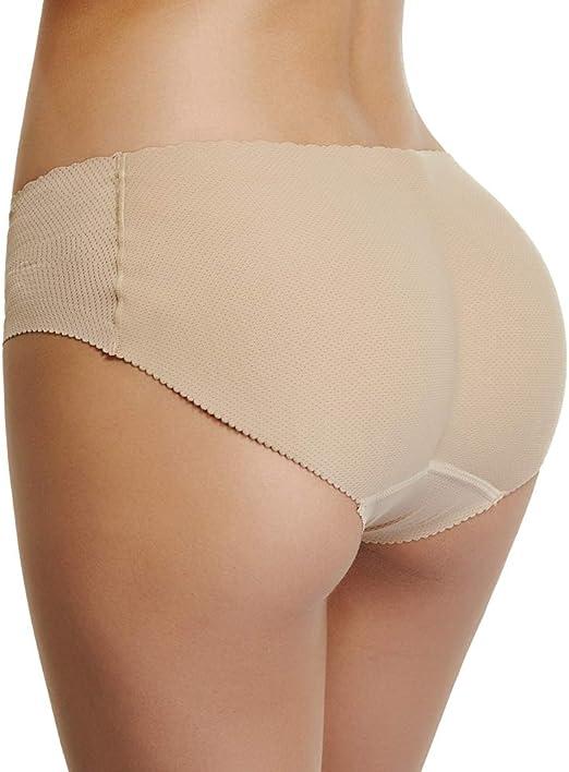 Everbellus Women Padded Panties Butt and Hip Enhancer Briefs Seamless Underwear