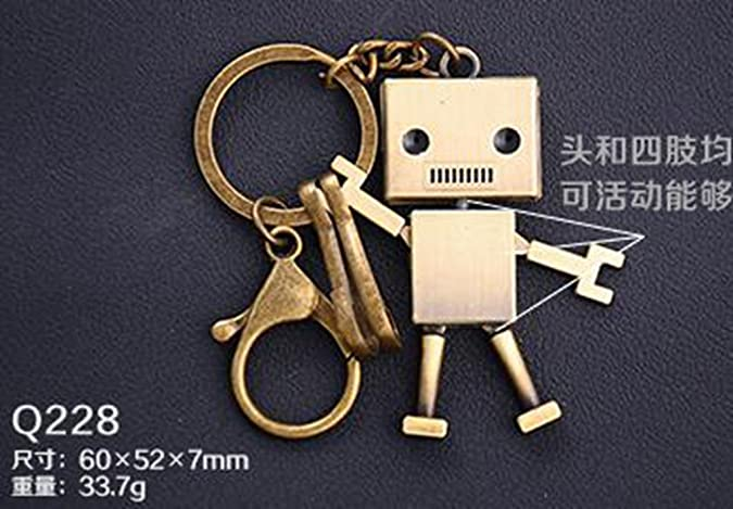 39e3a3697d ... Key Chain Cute Bronze Color Alloy Dolls Modeling Keys Pendant Key Chain  Cartoon Key Ring Ornaments Holiday Gifts for Child Boys Youths and Adult   Shoes