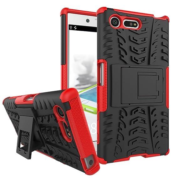 brand new 25c44 de127 SONY Xperia X Compact Case, MicroP Dual Layer Armor Hard Slim Hybrid  Kickstand Phone Cover Case for SONY Xperia X Compact / Xperia X mini /  F5321 (Red ...
