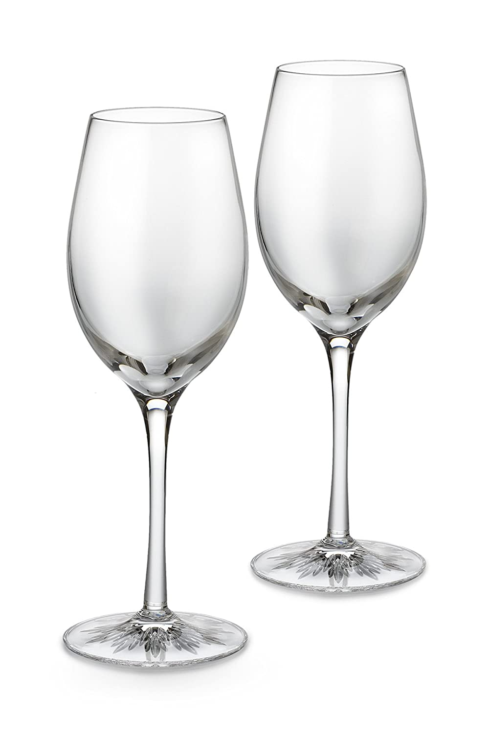 amazoncom waterford light white wine glasses set of 2 clearly waterford wine glassess wine glasses - Waterford Crystal Wine Glasses